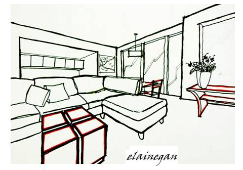 Design scribblelicious Room sketches interior design